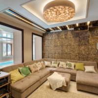 Отделка комнаты декоративными панелями из дерева