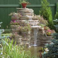 Садовый водопад из плоского камня своими руками