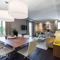 Подсветка зон в однокомнатной квартире новой планировки