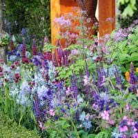 Цветущий миксбордер в дизайне сада