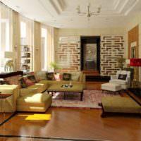 Дизайнерское оформление современной гостиной