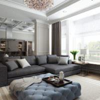 Рельефный потолок в оформлении интерьера гостиной