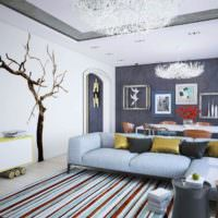 Натуральные материалы в дизайне гостиной