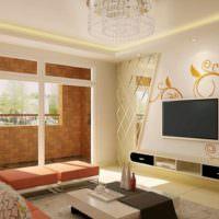 Дизайн интерьера гостиной в эко стиле