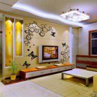 Ниши с подсветкой в дизайне гостиной