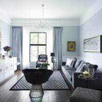 Фото светлой гостиной в стиле неоклассики