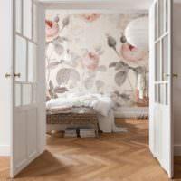 Фотообои с цветами в дизайне спальни