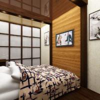 Уютный интерьер маленькой спальни