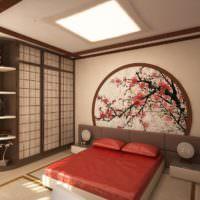 Декорирование спальни в японском стиле
