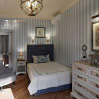Освещение спальни в деревенском стиле