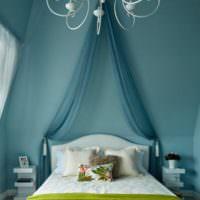 Балдахин над изголовьем кровати в дизайне спальни