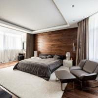 Дизайн спальни частного дома в стиле минимализма