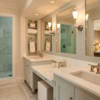 Ниши для туалетных принадлежностей на стене ванной комнаты