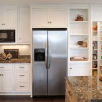 Ниша на кухни для размещения холодильника