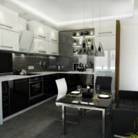 Кухня делового мужчины в темных оттенках