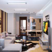 Светлая гостиная для мужчины оптимиста