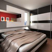 Спальня в стиле минимализма для холостяка