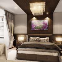 Коричневые оттенки в декорировании спальни для мужчины