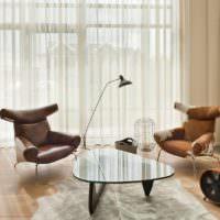 Дизайнерская мебель в современной гостиной