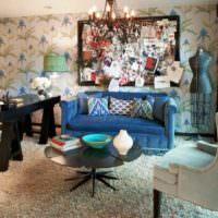 Смесь разнонаправленных стилей в одной комнате