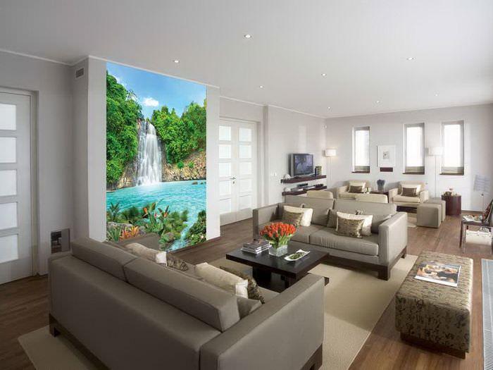 картинки квартиры с обоями греческой