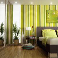 Полосатый интерьер комнаты с участием оливкового цвета