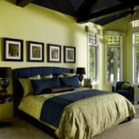 Оливковые оттенки в дизайне комнаты для отдыха