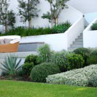 Подпорные стенки из бетона на садовом участке