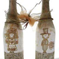 Роспись бутылок шампанского своими руками