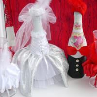 Шикарные наряды для свадебного шампанского