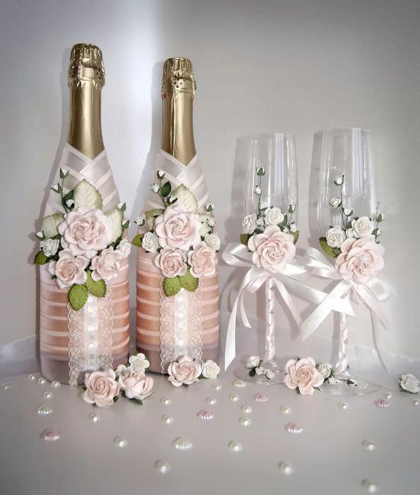 дело, свадебные бутылки своими руками фото его особенность