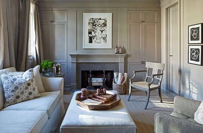 Гостиная комната в стиле французского неоклассицизма