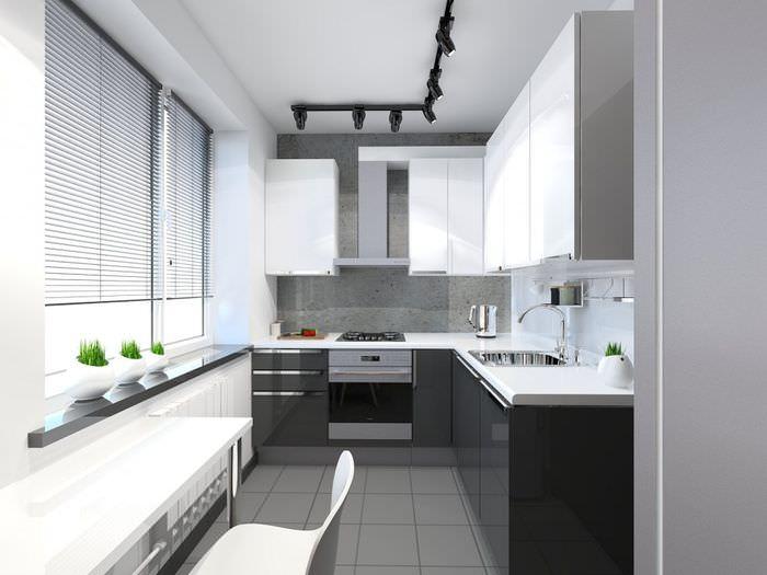 Интерьер кухни в однокомнатной квартире своими руками