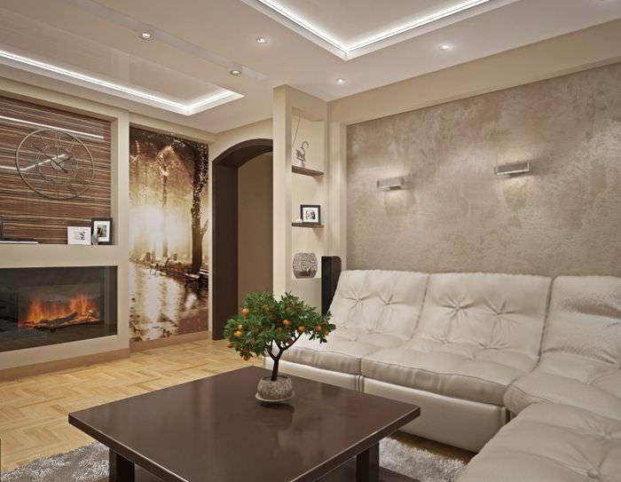 Оформление интерьера гостиной в стиле модерна