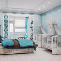 Детские кроватки в супружеской спальне