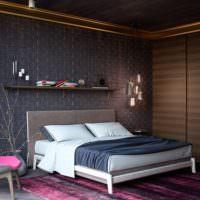 Темные цвета в дизайне спальни