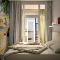 Фотообои в спальне напротив кровати