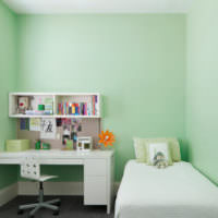 Детская комната в мятном цвете