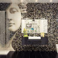 Мозаичная композиция в дизайне ванной комнаты