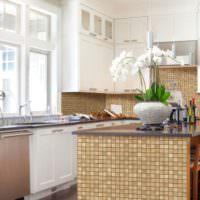 Мозаика на кухне в стиле прованс
