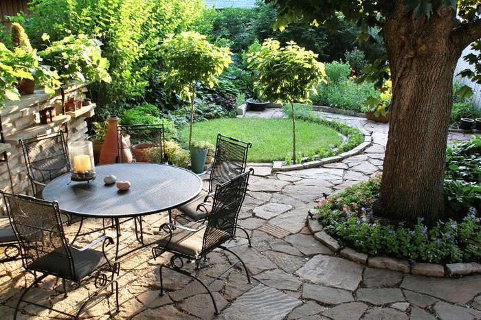 Оформление дизайна сада в классическом стиле