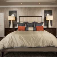 Дизайн красивой спальни в темных оттенках