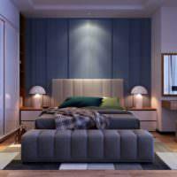 Строгий интерьер современной спальни