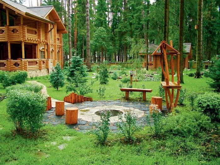Красивый дизайн садового участка площадью в 15 соток