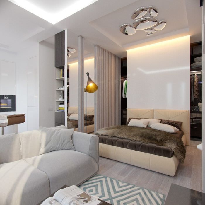 Дизайн квартиры площадью 37 кв метров в стиле минимализма
