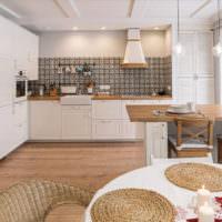 Совмещенная кухня гостиная в частном доме