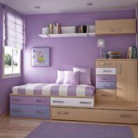 Лаванда в дизайне детской комнаты