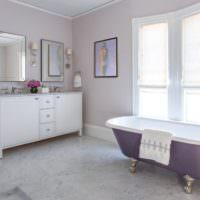 Лавандовый цвет в дизайне ванной комнаты