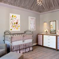 Лавандовый цвет в комнате для новорожденного