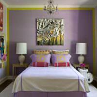 Модная спальня с красивым декором